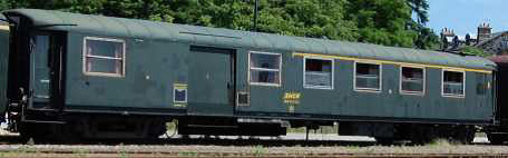 Voiture mixte 1ère classe / fourgon A4D d'origine PLM n°5454