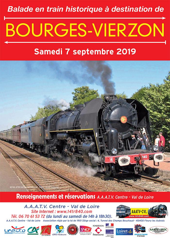 Balade de Bourges à Vierzon en train à vapeur - 7 septembre 2019