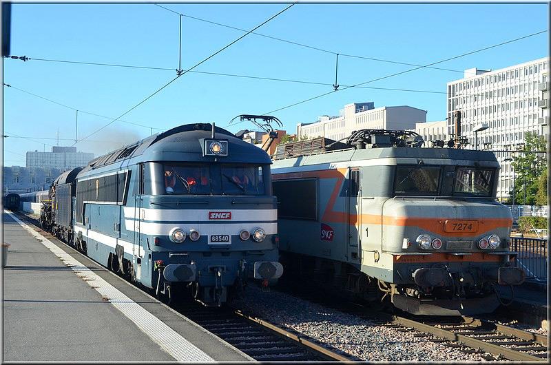 68540 et 141R840 à la gare d'Orléans le 15 septembre 2018 - JEP