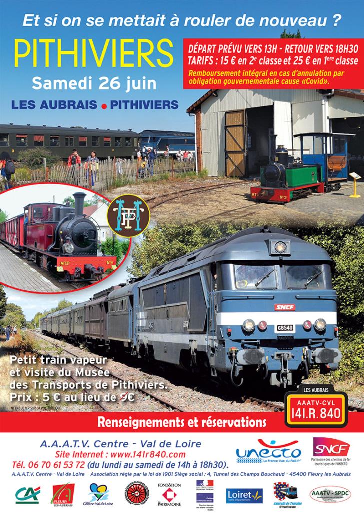 AAATV-CVL Circulation Les Aubrais - Pithiviers le 26 juin 2021