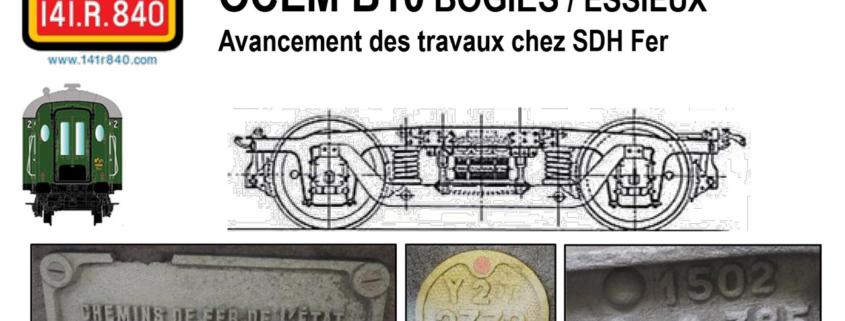 Changement de bogies de la voiture B10 OCEM - AAATV/CVL